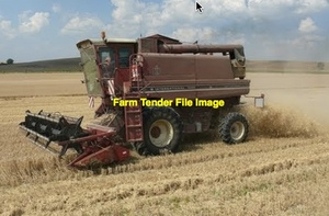 Case IH 1460 Header with 25' Open Front Comb & Trailer