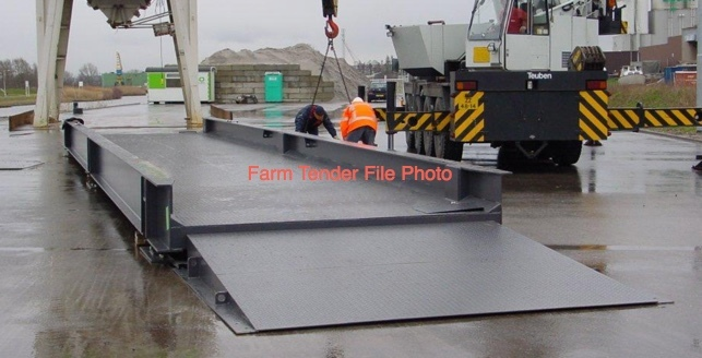 60 m/t Weighbridge with Load cells and Monitor.