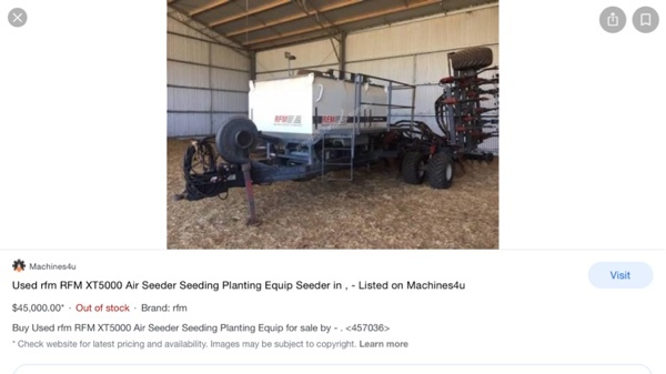 WANTED RFM Airseeder or Similar