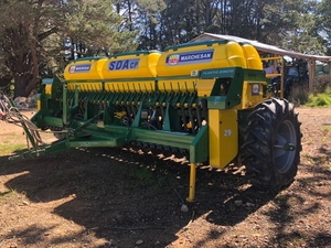 29 Run 4.5m Marchesan Double Disc Seeder