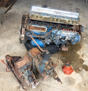 Nissan SD33 Diesel engine block with a Nissan 4 speed gearbox