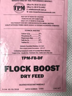 Under Auction - TPM Mineral Flock Boost Dry Feed - 2% + GST Buyers Premium On All Lots