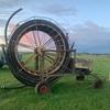 old irrigation reel