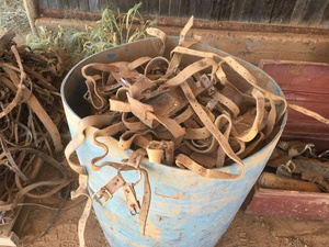 Under Auction - (A132) - Barrel of Approx. 50 Ram Harnesses - 2% + GST Buyers Premium On All Lots