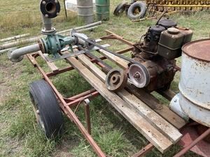 Irrigation Pump, Pipe and Sprinklers