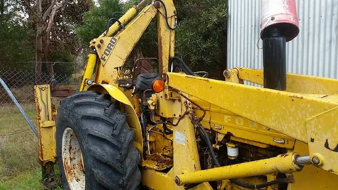 Ford 4500 with Backhoe and Front Bucket