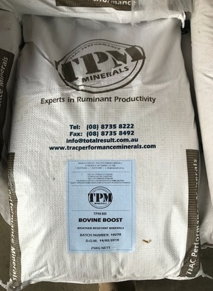 Under Auction - TPM Minerals Bovine Boost - 2% + GST Buyers Premium On All Lots