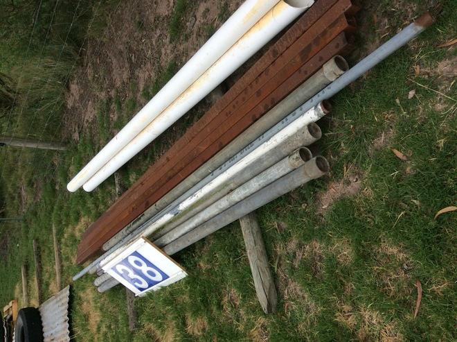 (A129) - 4 x Pipes for Posts 3 inches x 10 Ft Galvanized, 4 x 3 inches x 13 Ft plus some and PVC