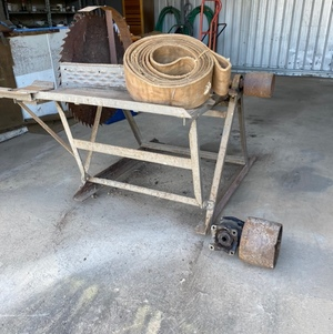 Saw Bench with Tractor PTO Pully & Belt