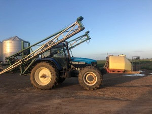 New Holland TM150 Tractor with 24m Goldacres Boomspray