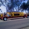 2010 Phillips Rollerdown Pickup Canola Front with trailer