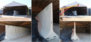 PORTABLE AG-CRETE CONCRETE DIVIDER RETAINING WALL 2.4m HIGH - AG-CRETE