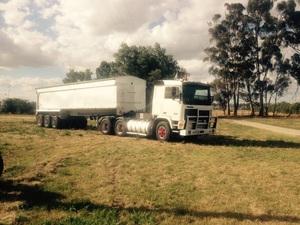 VOLVO F12 Truck & Alum Grain Tub  No GST on this