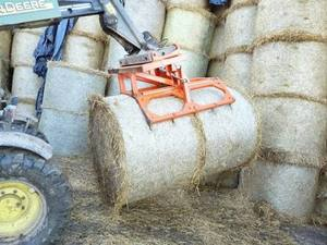 Clam shell bale grab, suits square and round bales