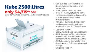 Self Bunded Fuel Storage Tanks 2500 Litres