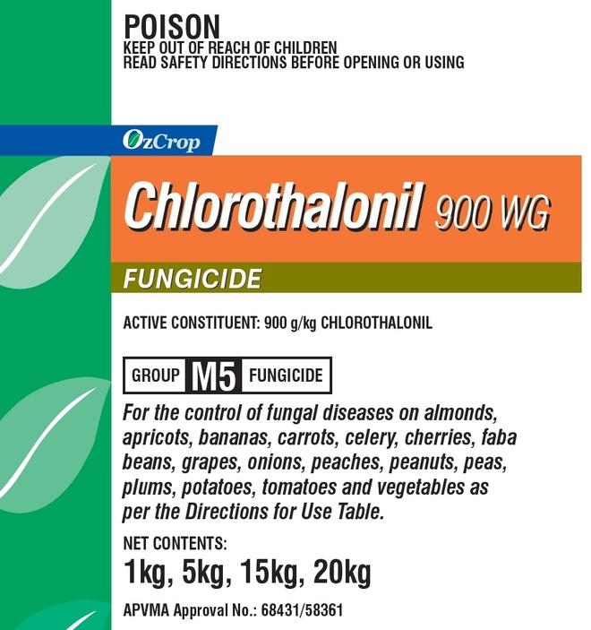 OzCrop Chlorothalonil 900 WG 15kg