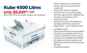 Self Bunded Fuel Storage Tanks 4500 Litres