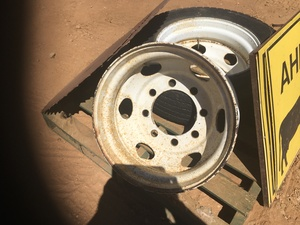 Under Auction - (A132) - 2 x Isuzu Tubeless Rims - 2% + GST Buyers Premium On All Lots