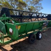 John Deere 9600 Header with JD 930 Flex Front + Trailer