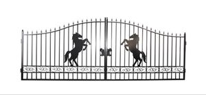 Under Auction - New Black Powder Coated Steel Gates - 2% + GST Buyers Premium On All Lots
