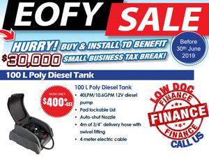 100 Litre Poly Diesel Fuel Tank