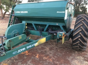 Under Auction - (A137) - John Shearer Airseeder - 2% + GST Buyers Premium On All Lots