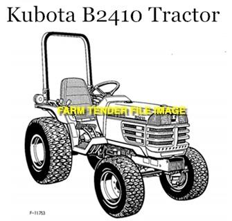 WANTED Kubota B2410 Front Tyres 24x850-12 x 2
