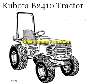 WANTED Kubota B2410 Front Tyres 24x850-12 x 2