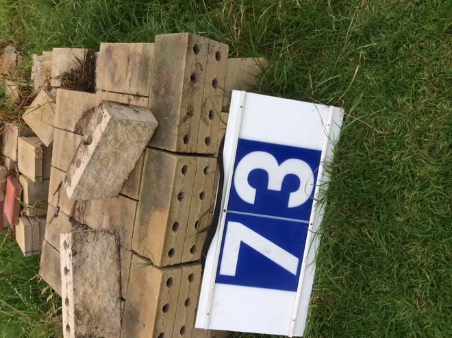 Under Auction - Under Auction (A129) - Approx. 130 Sandstone Concrete Blocks - 2% + GST Buyers Premium On All Lots