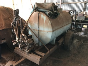 Under Auction - (A134) - Water tank, Spray Unit With Pumps and Sprayers - 2% + GST Buyers Premium On All Lots