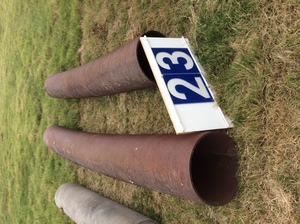 Under Auction - (A129) - 2 x Steel Pipes 3.1m / 4.2m x 43cm - 2% + GST Buyers Premium On All Lots