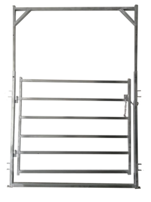 Under Auction - (A131) - New Adjustable Cattle Yard Gate In Frame - 2% + GST Buyers Premium On All Lots