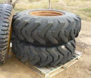 2 x 14 x 24 Grader tyres & rims