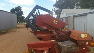 Case PTO Windrower, New Draper Belts, In Good Condition