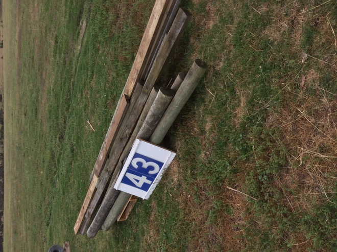 (A129) - Posts 6 x 9Ft Treated and Rails  3 x 18 Ft