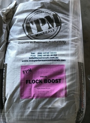 Under Auction - TPM Minerals Flock Boost (25kg Bag) Ex - 2% + GST Buyers Premium On All Lots