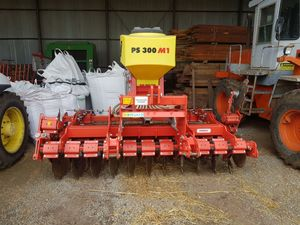 Maschio Gaspardo Presto 3 metre speed disc fitted with Apv PS 300 air seeder