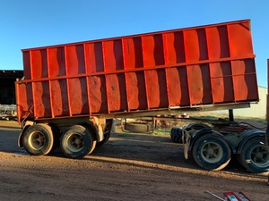24' bogie grain tipper trailer