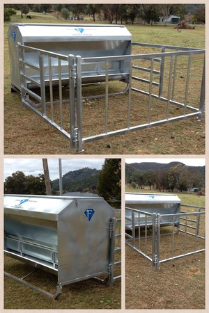 CATTLE FEEDER WITH CALF CREEP