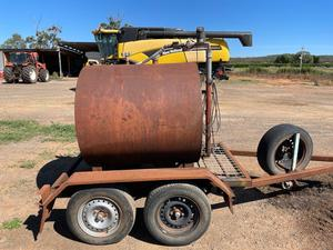 Under Auction - (A137) - 1100L Fuel Trailer - 2% + GST Buyers Premium On All Lots