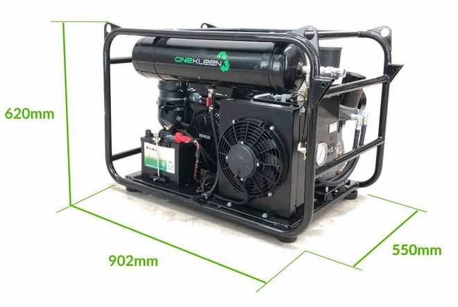 New 35 CFM Compact, Light Weight, Mobile Screw Air Compressor- Petrol
