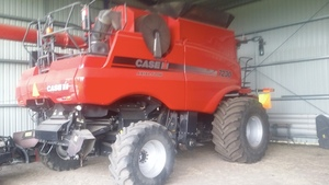 Under Auction - (A147)  2012 Case IH 7230 Header with Case MacDon 40ft Front - 2% + GST Buyers Premium On All Lots