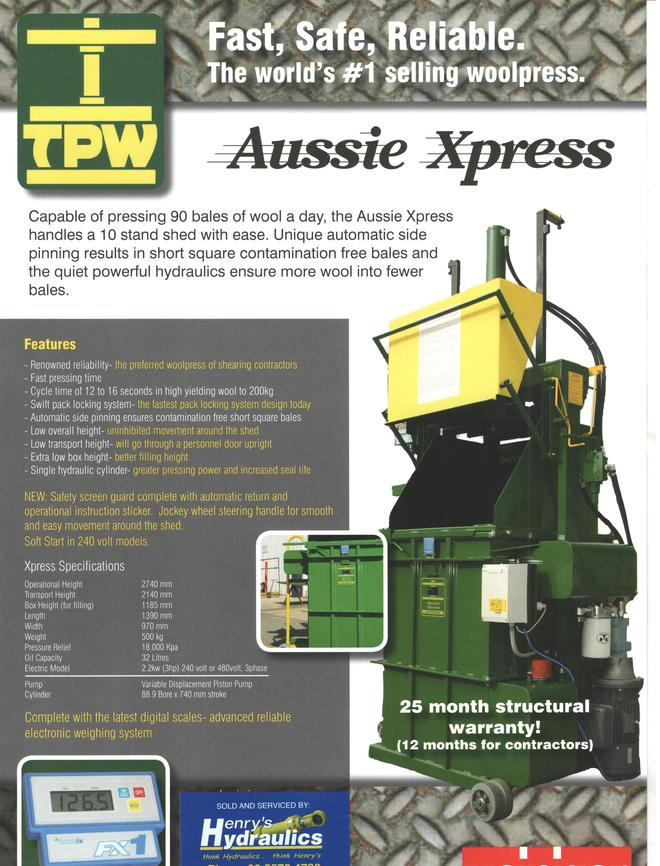 Woolpress - TPW - Aussie Express - New - One left in Stock