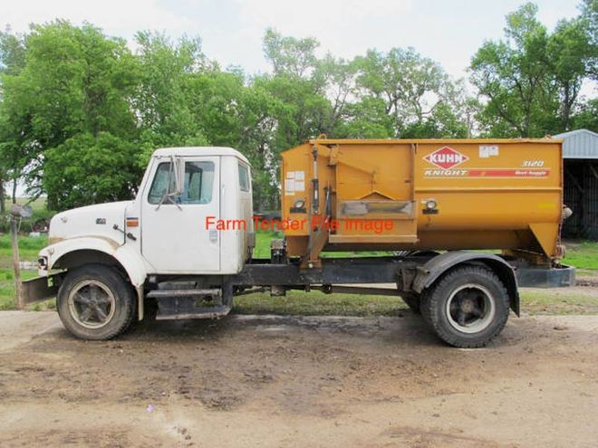 Truck Mounted Feed Mixer Including Truck