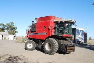 Under Auction - (A130) - 2004 Massey Ferguson 9790, 36' draper front, 30' flex front both on trailers - 2% + GST Buyers Premium On All Lots