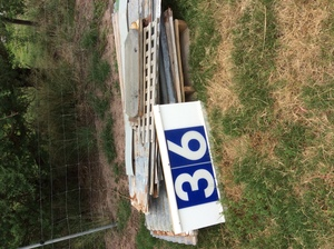 Under Auction - (A129) - 14 Used Iron Sheets x 6 Ft - 2% + GST Buyers Premium On All Lots