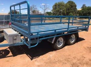 16' x 8' Flat Top Tandem Trailer With Sides