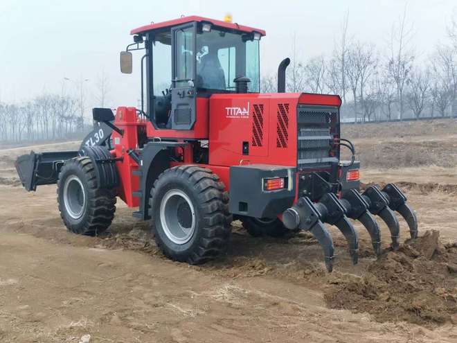 New TItan TL30 Wheel Loader with Rippers, 8500kg Operating Weight, 3000kg Capacity, 36km/h 4 Speed transmission