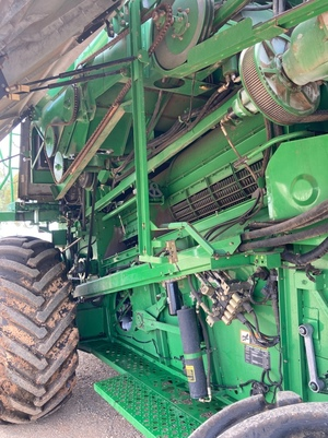 2000 John Deere 9650STS with JD 930R Front & Trailer