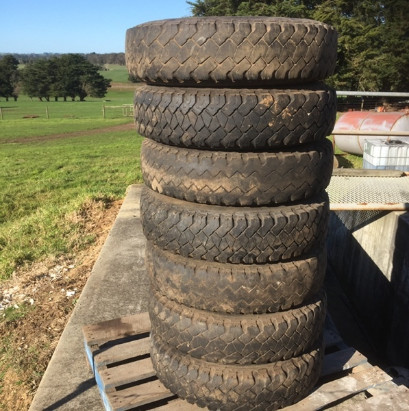 8 x Toyota Landcruiser 750 / 16 Split Rims with tyres For Sale - Price for the Lot!!